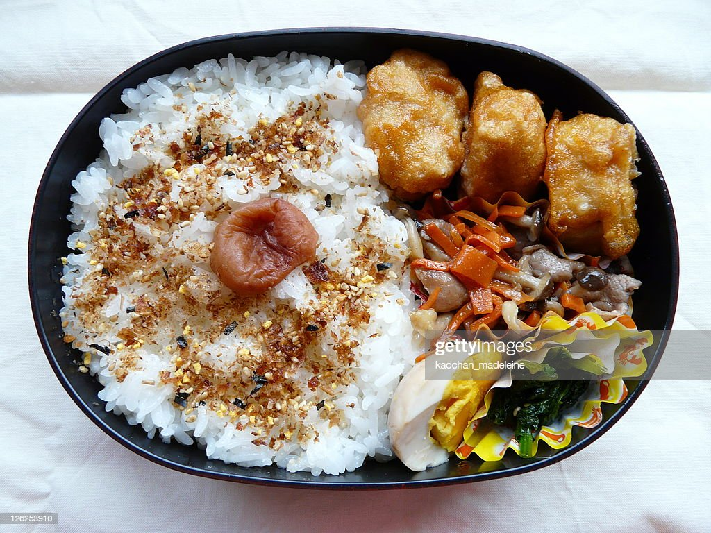 Furikake-bento : Stock Photo