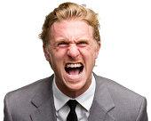 Furious Screaming Man In Suit