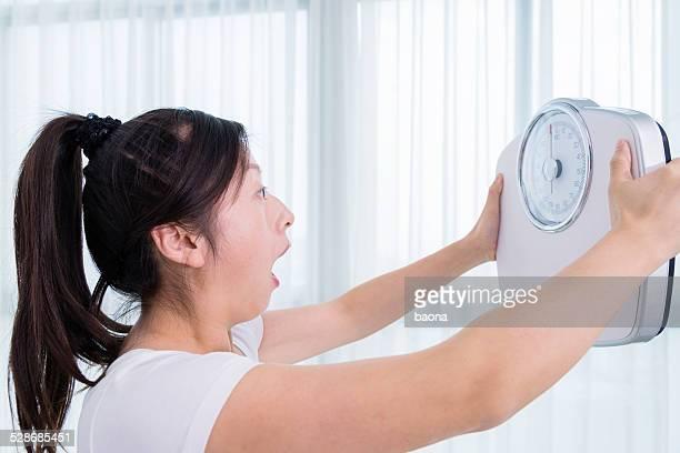 激怒、体重計