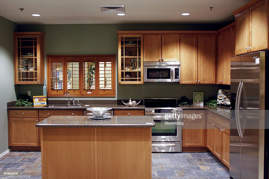 A Furnished Kitchen Is Displayed At The KB Home Studio Unit In Tempe  Arizona US On