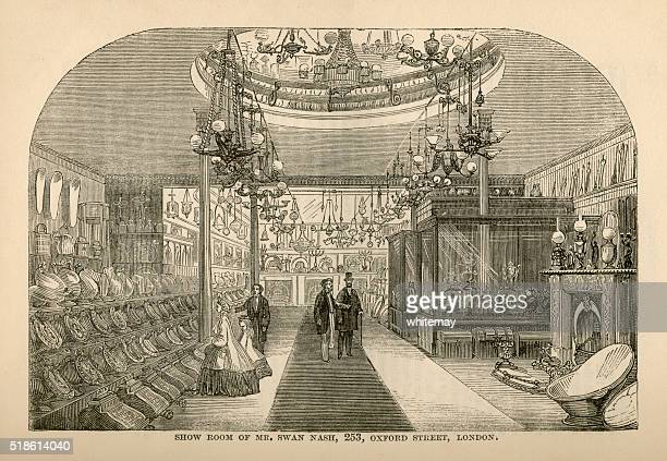 家具 Ironmonger のショールーム広告、1865