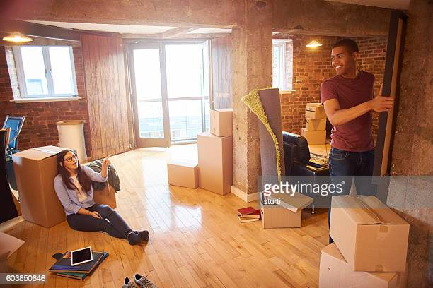 furnishing their new apartment
