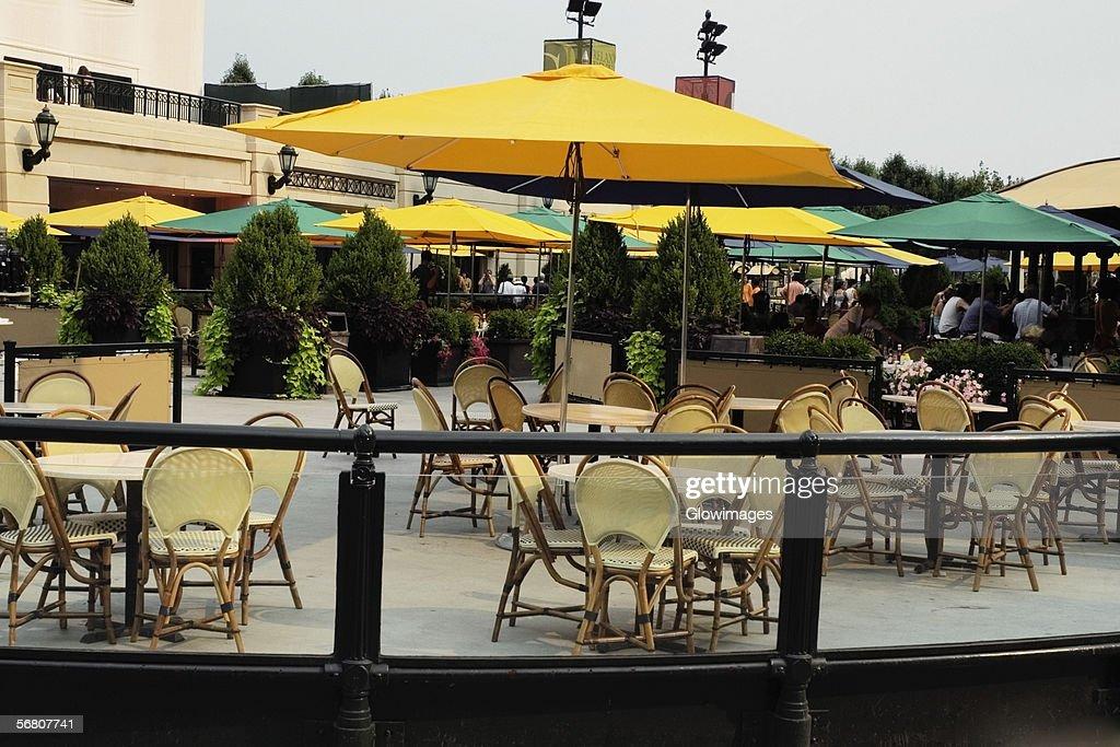 Good Furniture At An Outdoor Cafe, McCormick Tribune Plaza, Millennium Park,  Chicago, Illinois