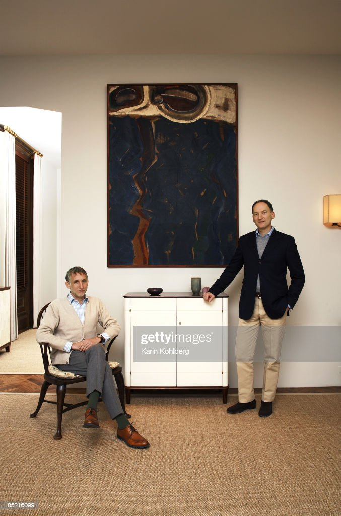 furniture designers david kesselman and scot coughlin of roman thomas are photographed for architectural digest magazine architectural digest furniture