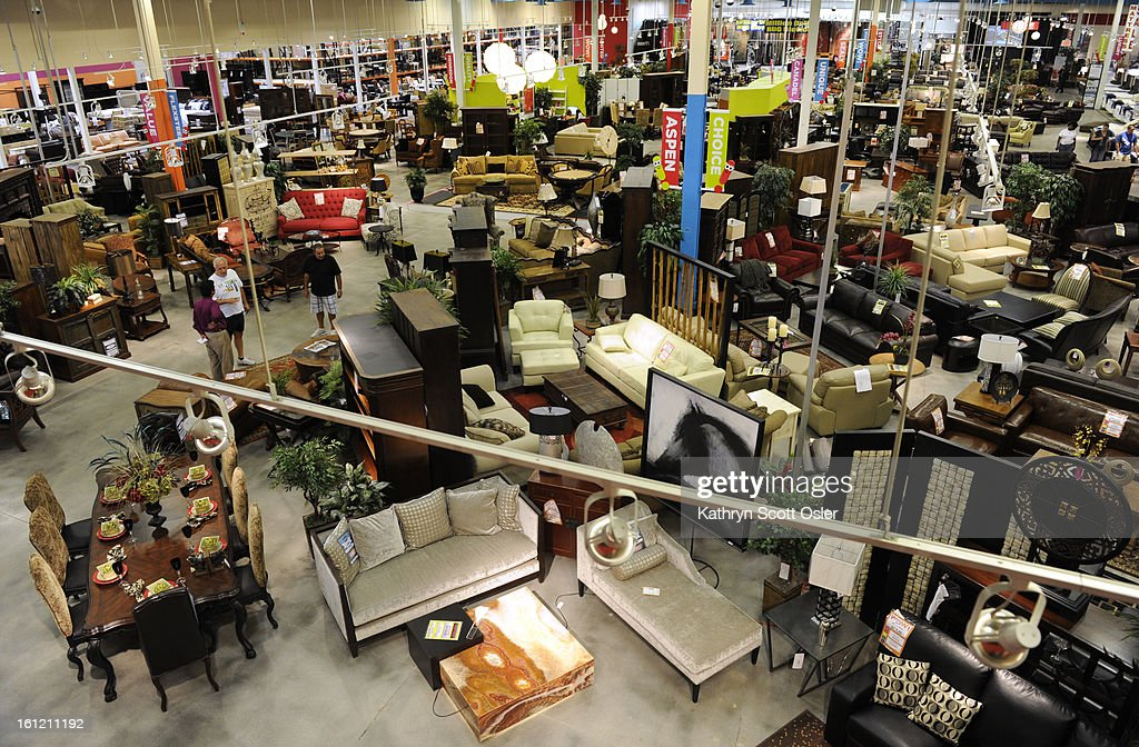 WOW Furniture Store Is Located Just Next Door To IKEA Which Opens Next Week  Customers Browse