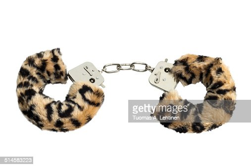 Furry and metal sex toy handcuffs