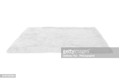 Furry carpet. Isolated on white : Stock Photo