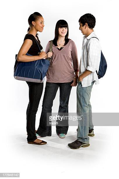 teenage Studenten: Mit Freunden unterhalten
