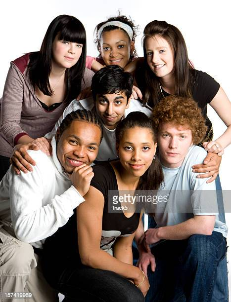 Adolescente estudantes: Amigos da turma