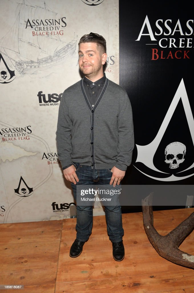 Fuse News correspondent <a gi-track='captionPersonalityLinkClicked' href=/galleries/search?phrase=Jack+Osbourne&family=editorial&specificpeople=202112 ng-click='$event.stopPropagation()'>Jack Osbourne</a> attends the Assasin's Creed IV Black Flag Launch Party at Greystone Manor Supperclub on October 22, 2013 in West Hollywood, California.