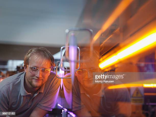 Fusion Reactor Scientist With Laser
