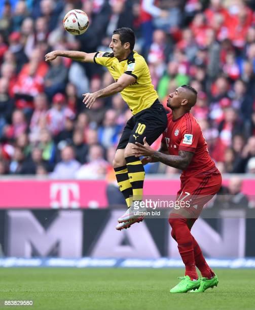 Fussball 1 Bundesliga Saison 2015/2016 8 Spieltag FC Bayern Muenchen Borussia Dortmund Henrikh Mkhitaryan gegen Jerome Boateng