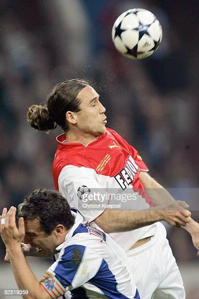 Fussball Champions League 03/04 Finale Gelsenkirchen FC Porto AS Monaco Dado PRSO / Monaco Jorge COSTA / Porto 260504