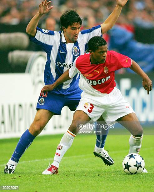Fussball Champions League 03/04 Finale Gelsenkirchen FC Porto AS Monaco DECO / Porto Patrice EVRA / Monaco 260504