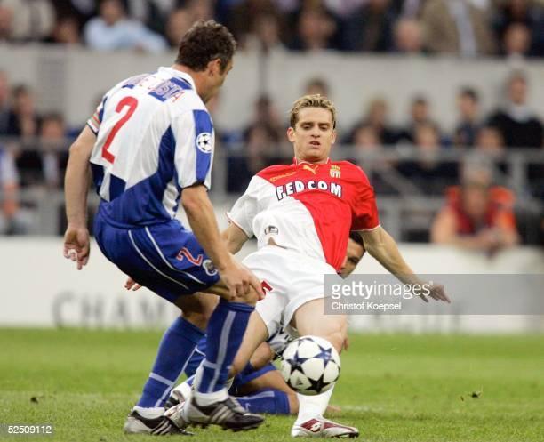 Fussball Champions League 03/04 Finale Gelsenkirchen FC Porto AS Monaco Jerome ROTHEN / Monaco Jorge COSTA / Porto 260504