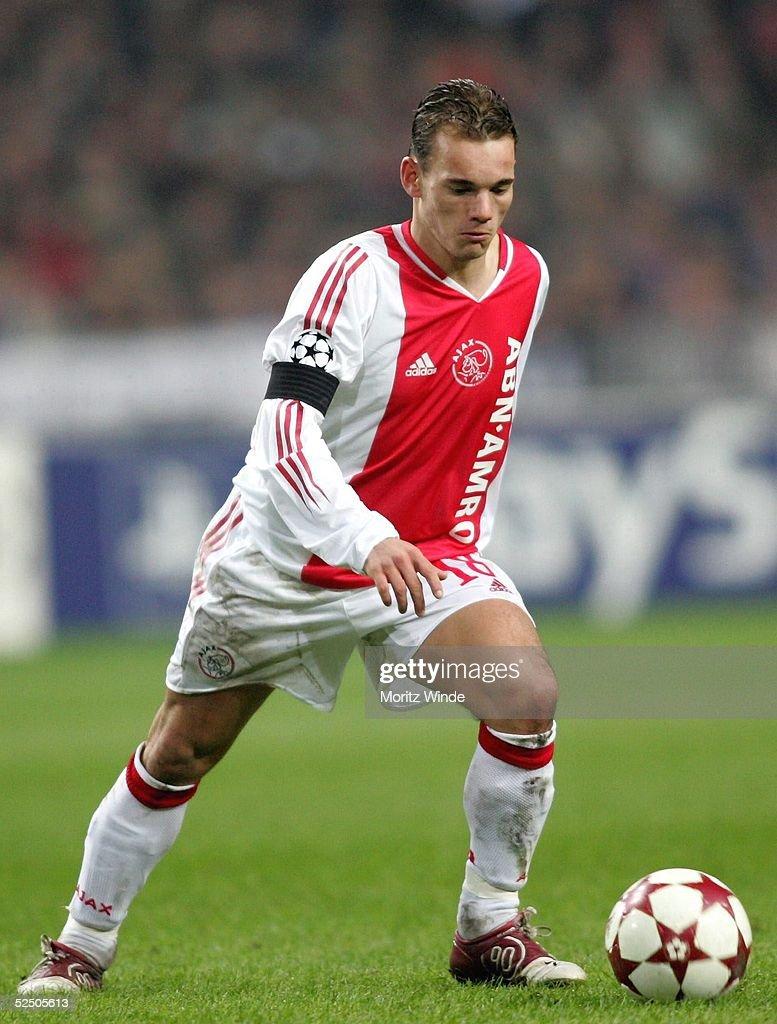 Fussball CL 04 05 Ajax Amsterdam FC Bayern Muenchen