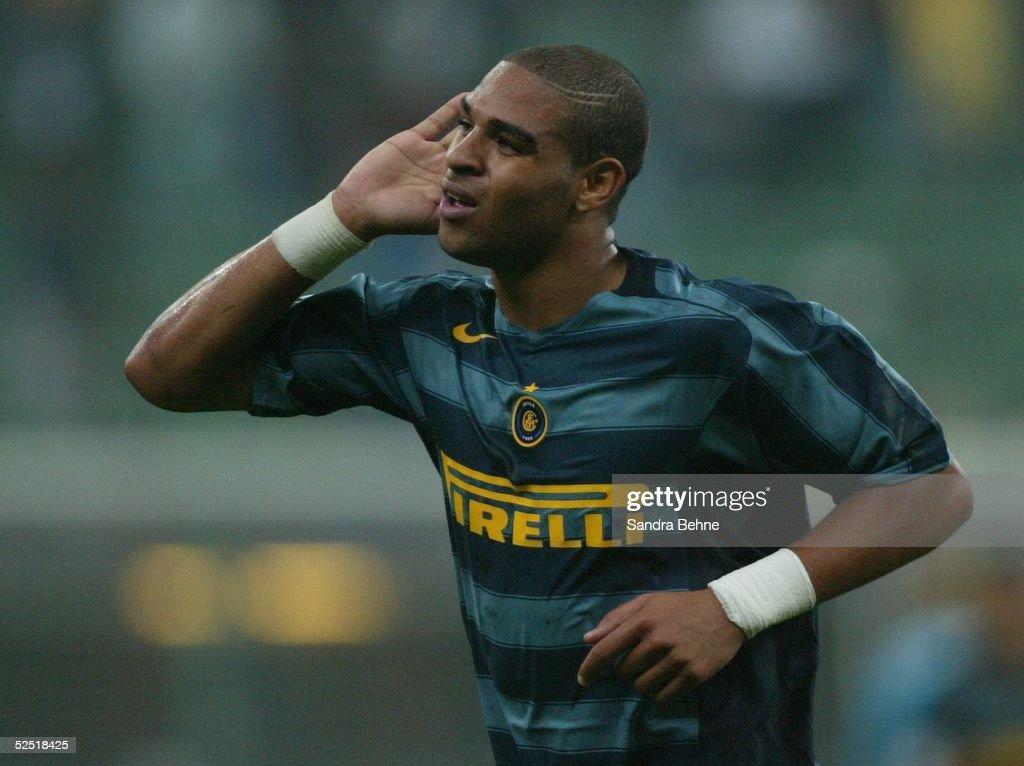 Fussball Champions League 04/05 Mailand Inter Mailand SV Werder Bremen 20 Jubel zum 20 durch ADRIANO / Inter 140904