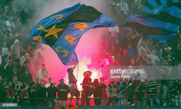 Fussball Champions League 04/05 Mailand Inter Mailand SV Werder Bremen 20 Inter Fans 140904