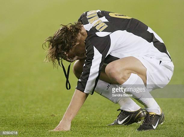 Fussball Champions League 04/05 Turin Juventus Turin FC Bayern Muenchen 10 Zlatan IBRAHIMOVIC / Juve 191004