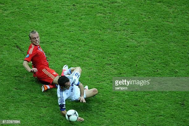 Giorgos Karagounis Vorrunde Spiel 18 Gruppe Gruppe A Griechenland Russland 10 Fussball EM UEFA Euro Europameisterschaft 2012 Polen Ukraine Greece...