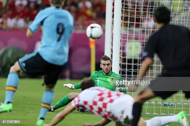 Stipe Pletikosa Croatia Kroatien Vorrunde Gruppe C Spiel 20 Kroatien Spanien Croatia Spain 01 Fussball EM UEFA Euro Europameisterschaft 2012 Polen...