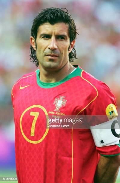 Fussball Euro 2004 in Portugal Vorrunde / Gruppe A / Spiel 10 Lissabon Russland Portugal 02 LUIS FIGO / POR 160604