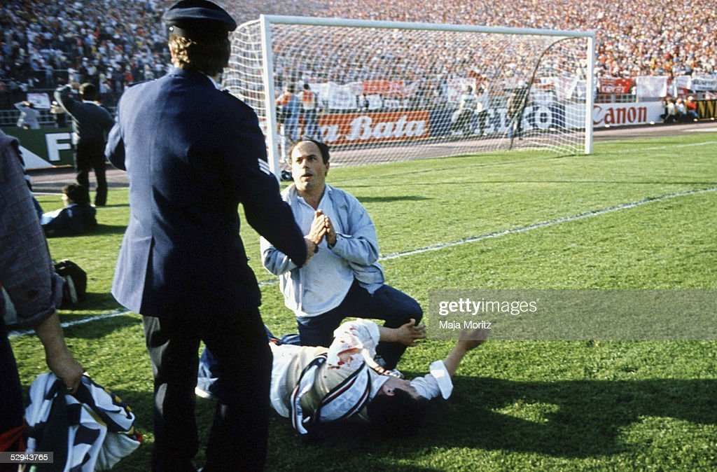 Fussball Europapokal der Landesmeister 1985 Bruessel 290585 Juventus Turin FC Liverpool Katastrophe im Heysel Stadion