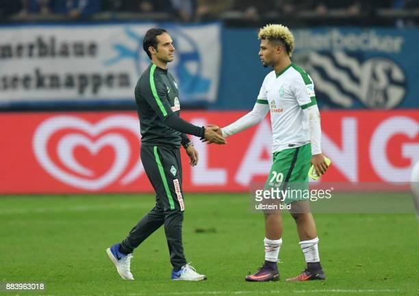 Fussball GER 1 Bundesliga Saison 2016 2017 10 Spieltag FC Schalke 04 SV Werder Bremen Trainer Alexander Nouri li troestet Serge Gnabry