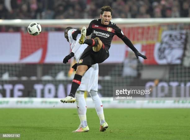 Fussball GER 1 Bundesliga Saison 2016 2017 16 Spieltag Hakan Calhanoglu re gegen Anthony Modeste