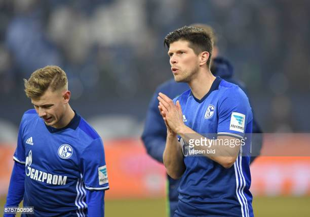 Fussball GER 1 Bundesliga Saison 2016 2017 20 Spieltag KlaasJan Huntelaar Klaas Jan Huntelaar re und Max Meyer