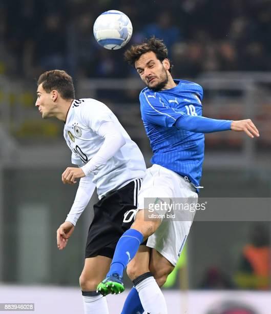 Fussball International Testspiel in Mailand Italien Deutschland Leon Goretzka gegen Roberto Gagliardini