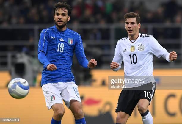 Fussball International Testspiel in Mailand Italien Deutschland Roberto Gagliardini gegen Leon Goretzka