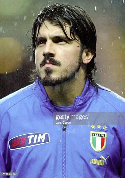 Fussball Laenderspiel 2004 Braga Portugal Italien Ivan GATTUSO / ITA 310304