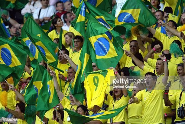 Fussball Laenderspiel 2004 St Denis Frankreich Brasilien 00 Fans / Brasilien 200504