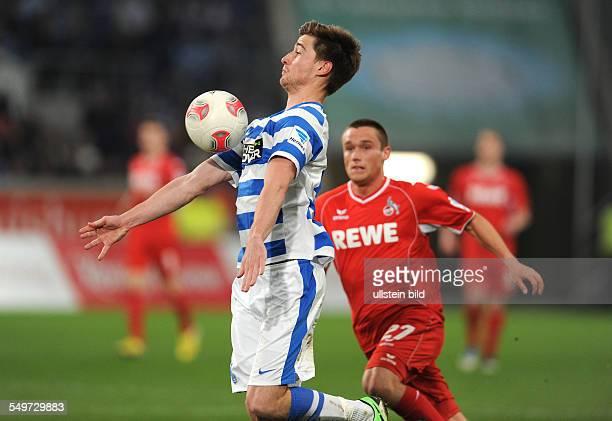Fussball Saison 20122013 2 Bundesliga 30 Spieltag MSV Duisburg 1 FC Köln 11 Dustin Bomheuer und Christian Clemens re