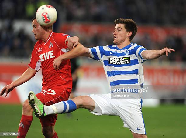 Fussball Saison 20122013 2 Bundesliga 30 Spieltag MSV Duisburg 1 FC Köln 11 Dustin Bomheuer re gegen Christian Clemens