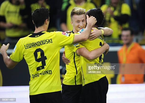 Fussball Saison 20132014 1 Bundesliga 5 Spieltag Borussia Dortmund Hamburger SV 62 vli Robert Lewandowski Marco Reus Pierre Emerick Aubameyang
