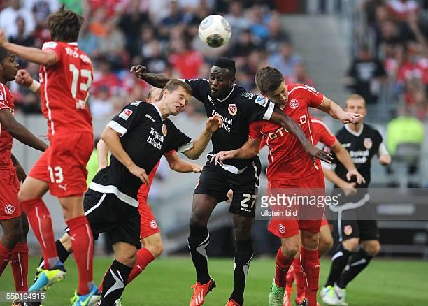 Fussball Saison 20132014 2 Bundesliga 1 Spieltag Fortuna Düsseldorf Energie Cottbus vre Dustin Bomheuer Boubacar Sanogo und Julian Börner