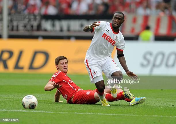 Fussball Saison 20132014 2 Bundesliga 2 Spieltag 1 FC Köln Fortuna Düsseldorf 11 Anthony Ujah re gegen Dustin Bomheuer