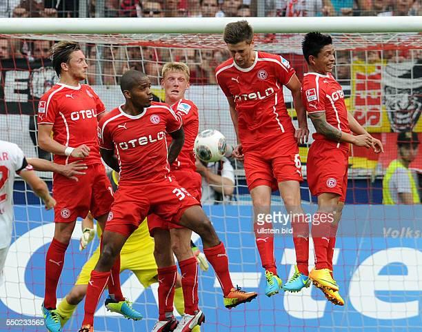 Fussball Saison 20132014 2 Bundesliga 2 Spieltag 1 FC Köln Fortuna Düsseldorf vre Cristian Ramirez Dustin Bomheuer Axel Bellinghausen Charlison...