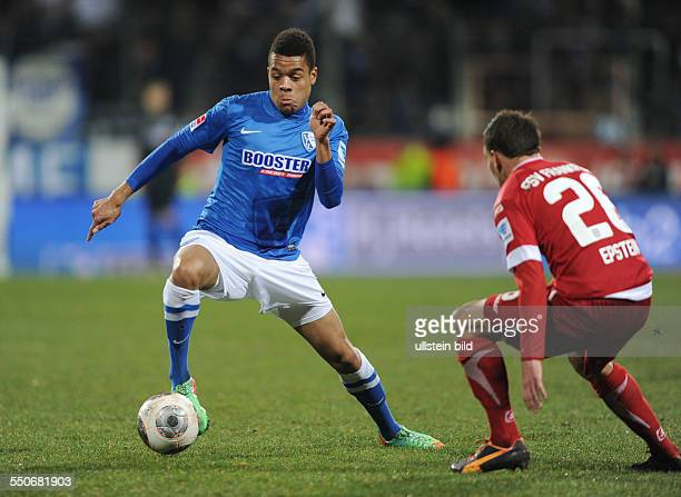 Fussball Saison 20132014 2 Bundesliga 20 Spieltag VfL Bochum FSV Frankfurt 12 Jan Gyamerah li gegen Denis Epstein