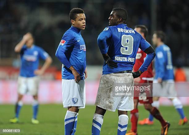 Fussball Saison 20132014 2 Bundesliga 20 Spieltag VfL Bochum FSV Frankfurt 12 Jan Gyamerah li und Richard SukutaPasu