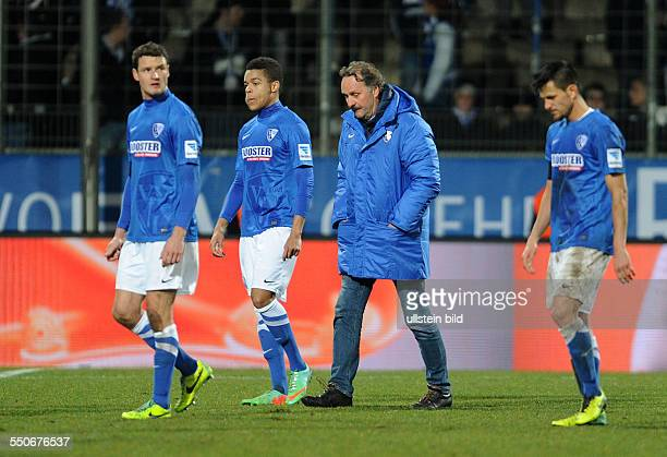 Fussball Saison 20132014 2 Bundesliga 20 Spieltag VfL Bochum FSV Frankfurt vre Danny Latza Trainer Peter Neururer Jan Gyamerah Marcel Maltritz