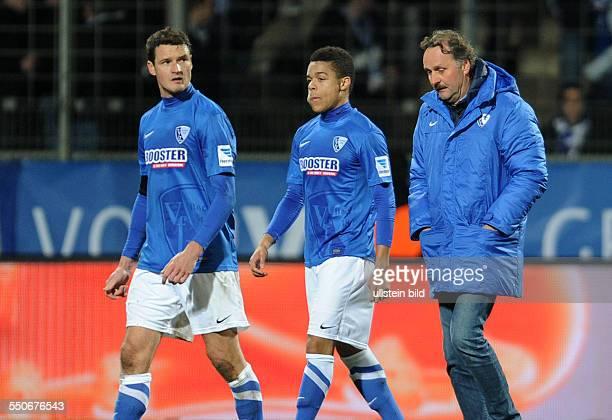 Fussball Saison 20132014 2 Bundesliga 20 Spieltag VfL Bochum FSV Frankfurt vre Trainer Peter Neururer Jan Gyamerah Marcel Maltritz