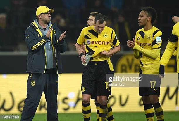 Fussball Saison 2014/15 1 Bundesliga 16 SpieltagBorussia Dortmund VfL Wolfsburg 22vli Trainer Juergen Klopp Jürgen Klopp Ciro Immobile Kevin...