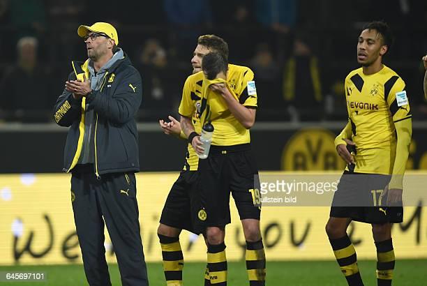 Fussball Saison 2014/15 1 Bundesliga 16 SpieltagBorussia Dortmund VfL Wolfsburgvli Trainer Juergen Klopp Jürgen Klopp Ciro Immobile Kevin Grosskreutz...