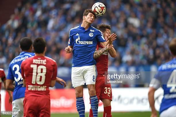 Fussball Saison 2014/15 1 Bundesliga 31 SpieltagFC Schalke 04 VfB Stuttgart 32Leon Goretzka li gegen Daniel Ginczek