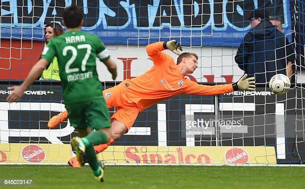 Fussball Saison 2014/15 3 Liga 35 SpieltagMSV Duisburg Preussen Münster 21Parade von Torwart Michael Ratajczak