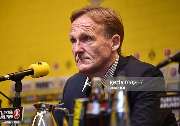 Fussball Saison 2015/16 1 Bundesliga Pressekonferenz Vorstellung von Thomas Tuchel als neuer Trainer von Borussia DortmundGeschaeftsfuehrer...