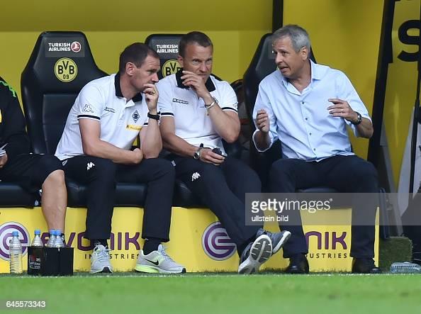 Fussball Saison 2015/2016 1 Bundesliga 1 SpieltagBorussia Dortmund Borussia Mönchengladbach 40vre Trainer Lucien Favre Co Trainer Frank Geideck Co...